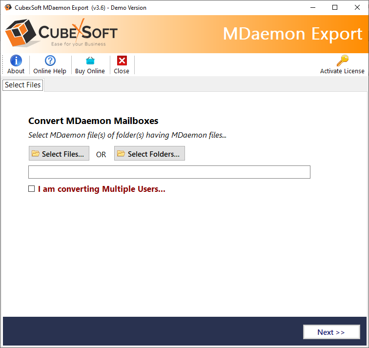 SpecyTech MDaemon Migrator Tool full screenshot
