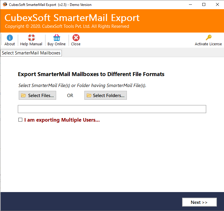 SpecyTech SmarterMail Migrator Tool full screenshot