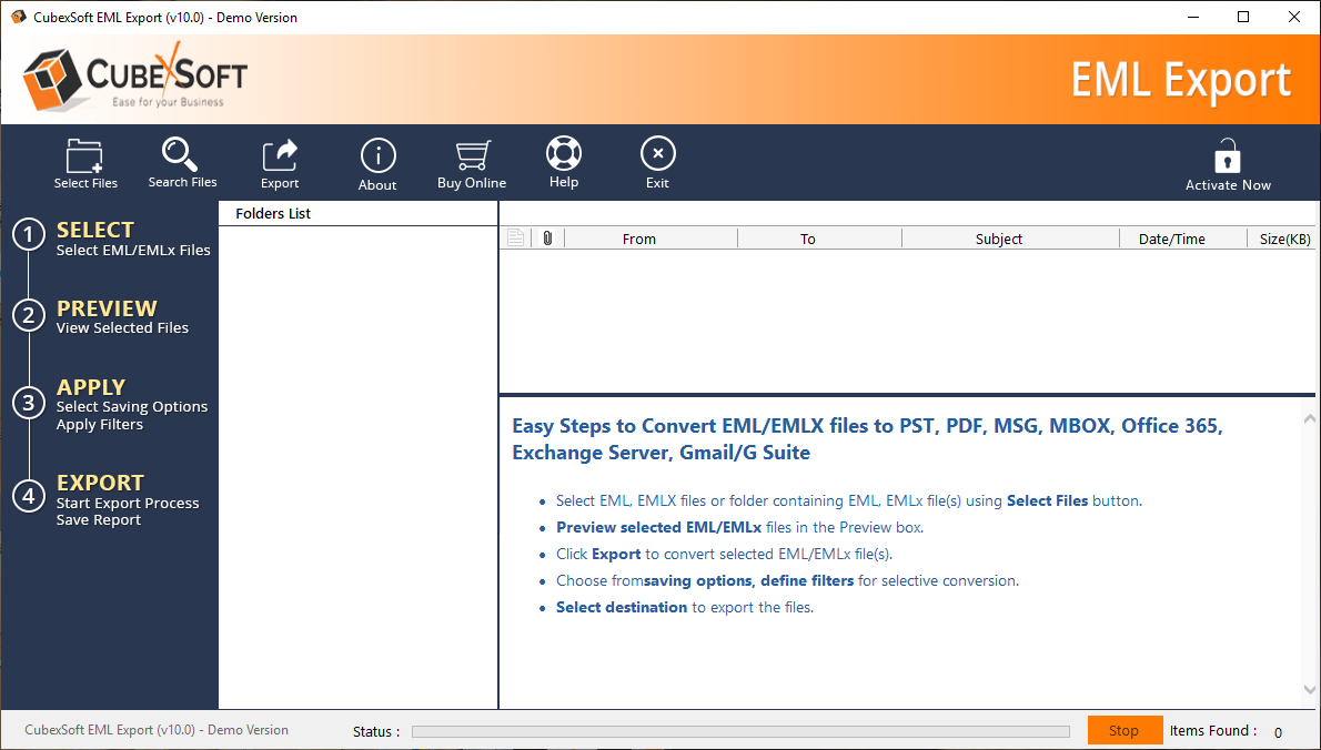 EML to PST Converter - Combine EML Files to PST without