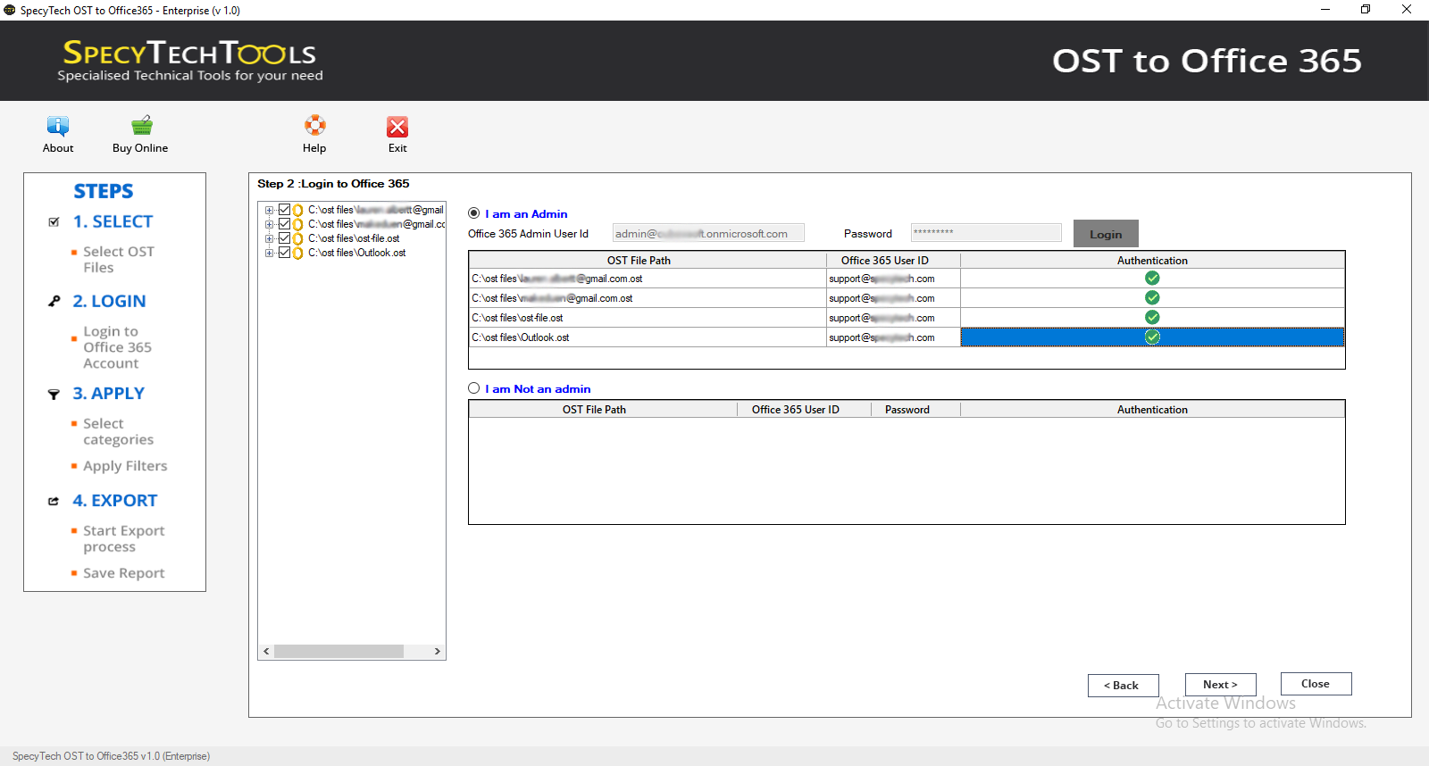 SpecyTech OST to Office 365 Converter